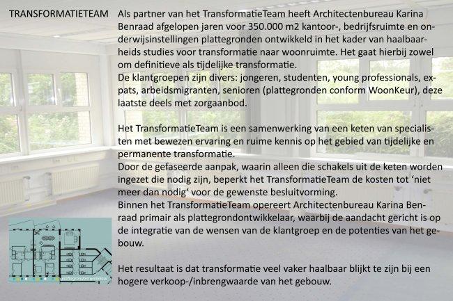 Architectenbureau Karina Benraad en het Transformatieteam