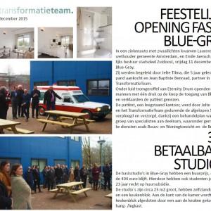 Amsterdam, feestelijke opening gebouw Blue-Gray voor studenten