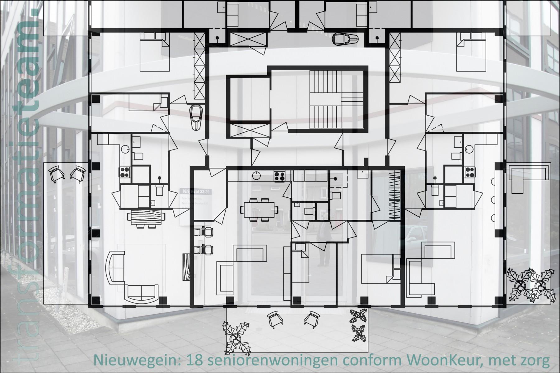 Nieuwegein, Krijtwal, wooneenheden en seniorenwoningen
