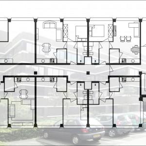 Veenendaal, Carrefour, 1500m2 kantoor, 54 2-kamerwoningen