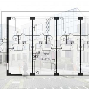 Nieuwegein, Centrum VI, Luifelstede 1a, tweekamerwoningen en bedrijfsruimten