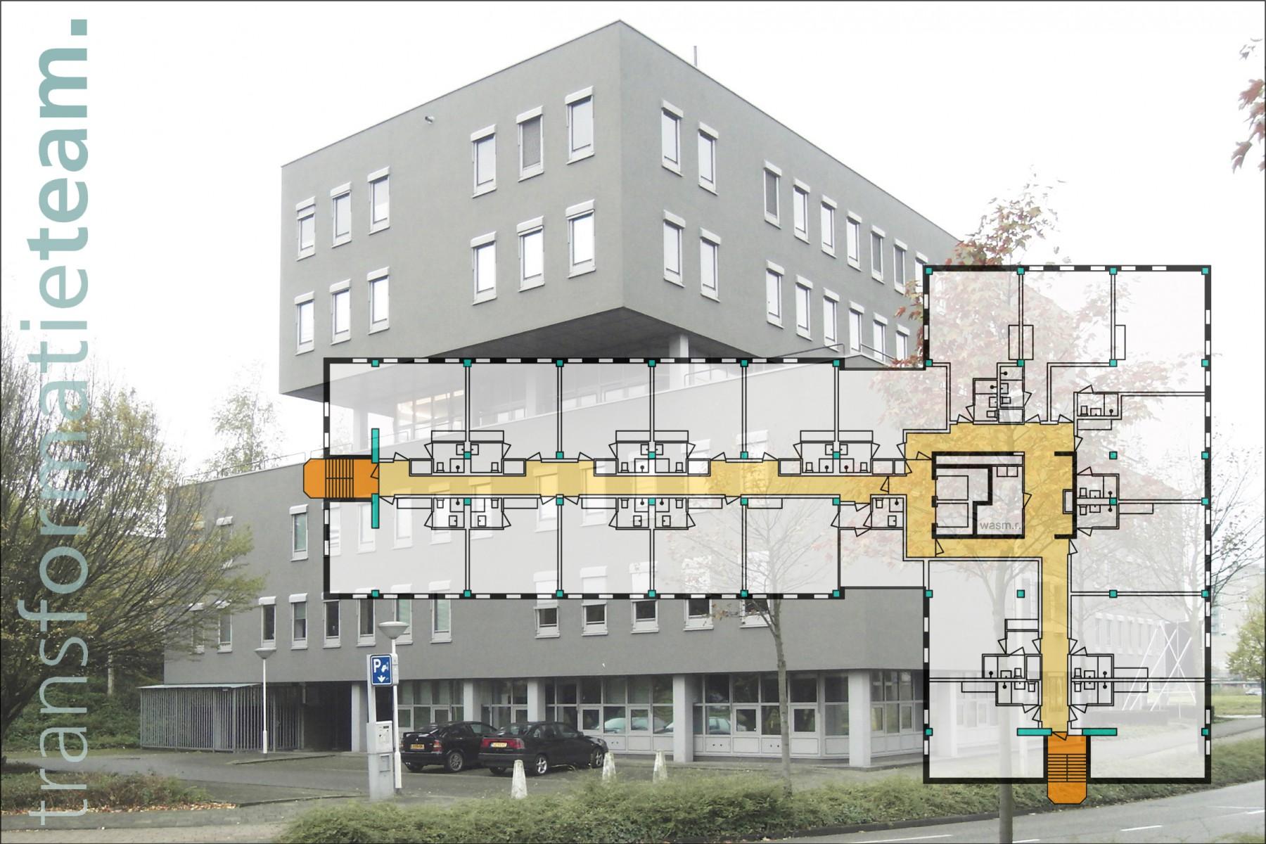 Zoetermeer, Italiëlaan, Transformatie, 97 studio's